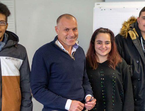 Regelmäßige Vorträge vor Jugendlichen im BFZ