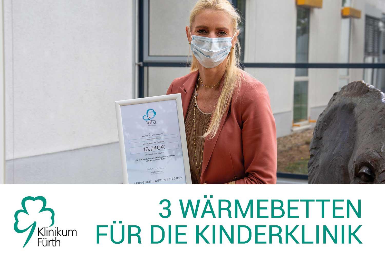 Klinikum Fürth Spendenübergabe Eva Zurek