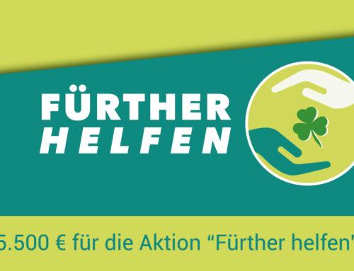 """5.500 € für die Aktion """"Fürther helfen"""""""
