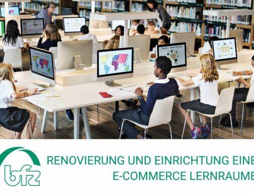 5.000 € für die Renovierung und Einrichtung eines E-Commerce Lernraumes