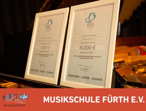10.000 € für die Musikschule Fürth e.V. in der Corona-Krise